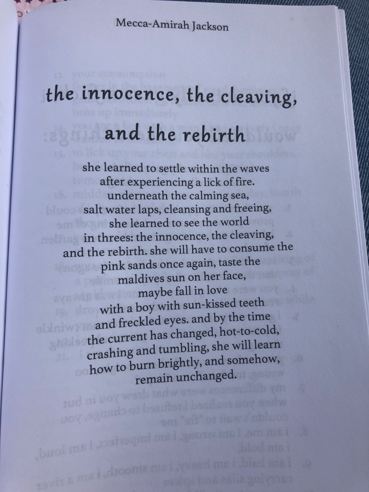 the innocence, the cleaving,  and therebirth
